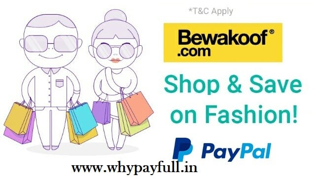 bewakoof paypal offer