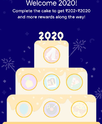 Google Pay 2020 Complete Cake Offer