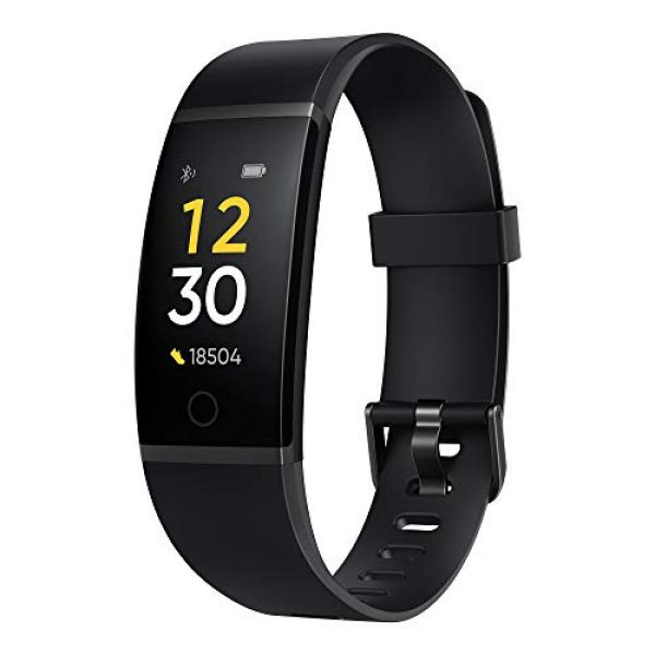 realme band black full colour screen with touchkey real time heart rate 1