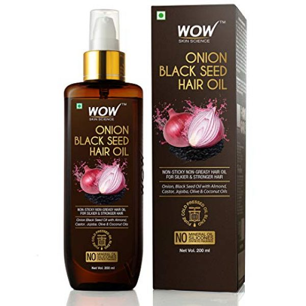 wow skin science onion black seed hair oil 200ml 11
