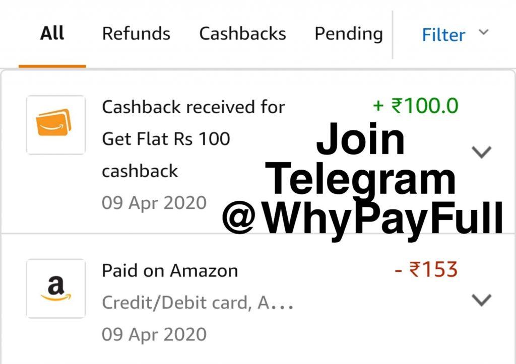 amazon flash cashback sale proof