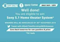 amazon quiz answers 5 june
