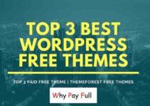 Top 3 Best WordPress Free Theme - Themeforest free themes-min