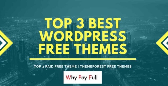 Top 3 Best WordPress Free Theme - Themeforest free themes-min