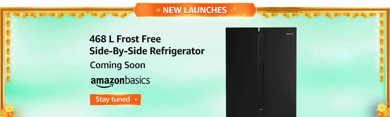 4. 468 L Frost Free Side-By-Side Refrigerator - Amazon Great Indian Festival Sale 2020