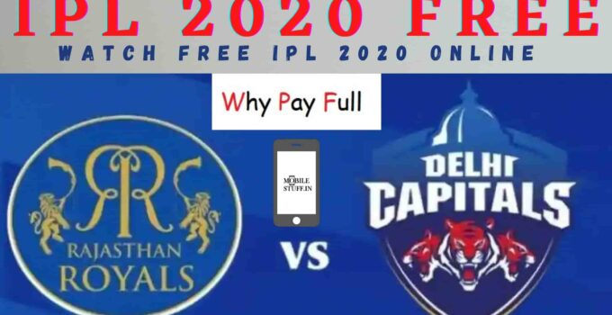 IPL-2020-Match-DC-vs-RR-IPL-Live-Links