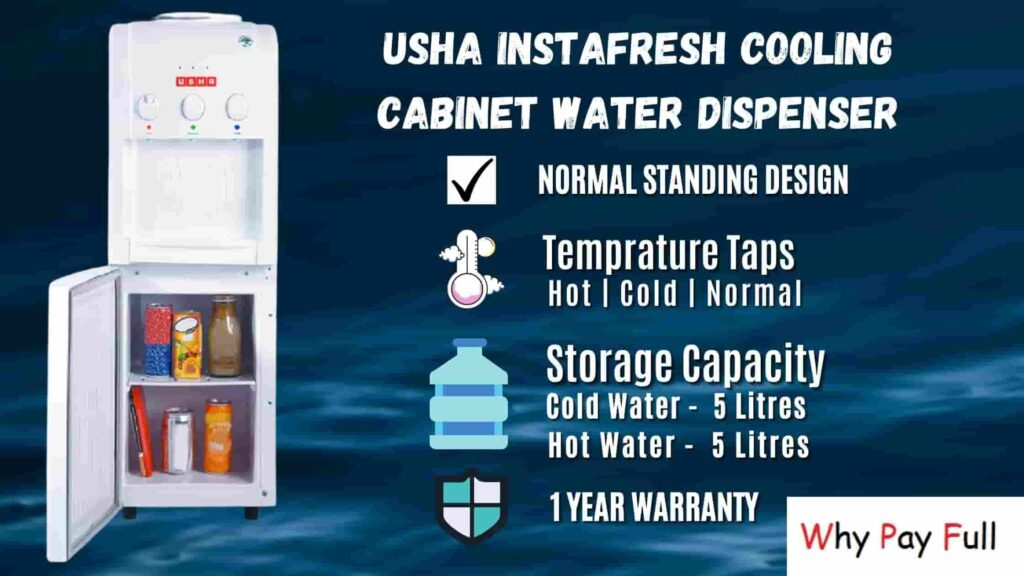 Usha Instafresh Cooling Cabinet Water Dispenser - Best Water Dispensers In India 2020