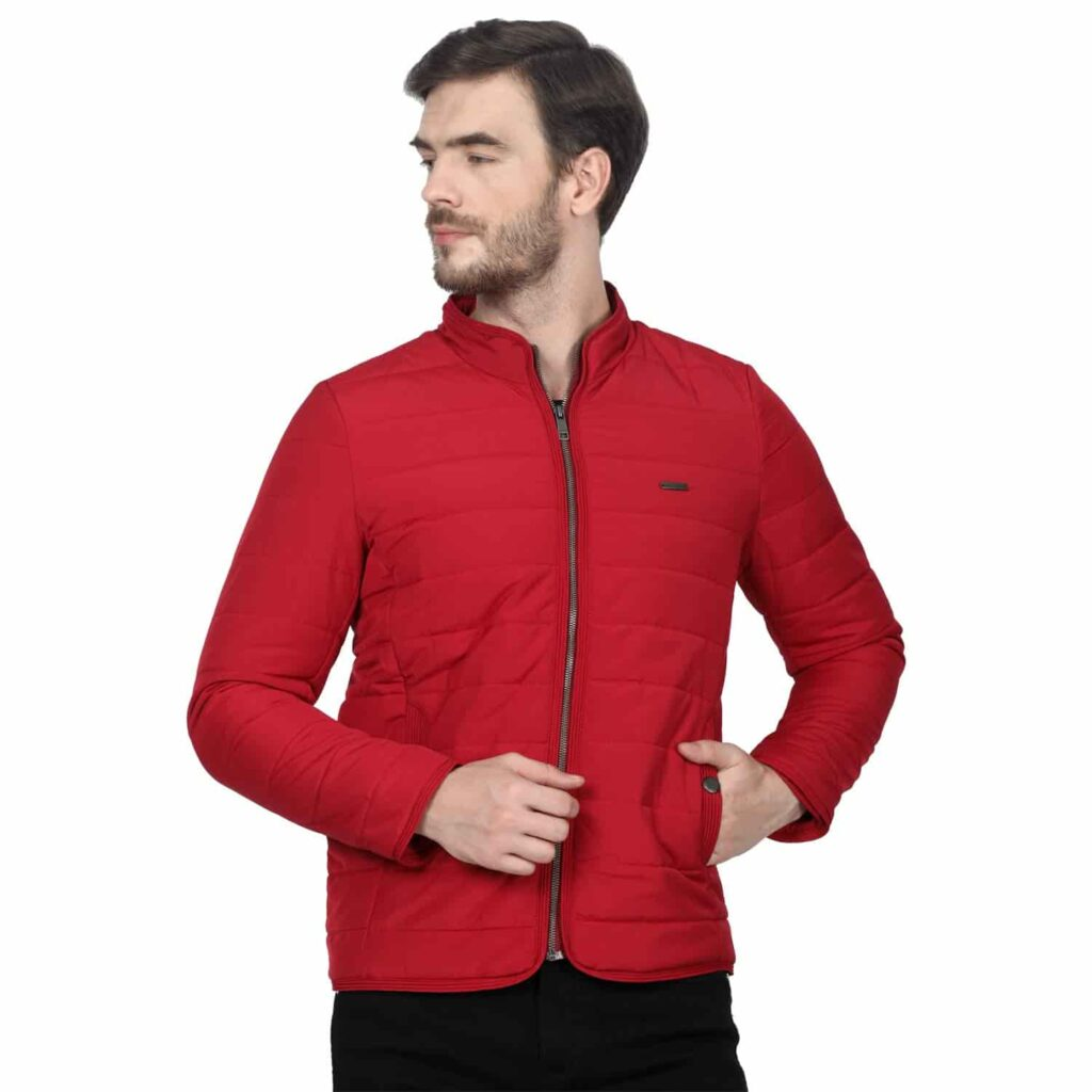 Monte Carlo Red Solid Polyester Jacket