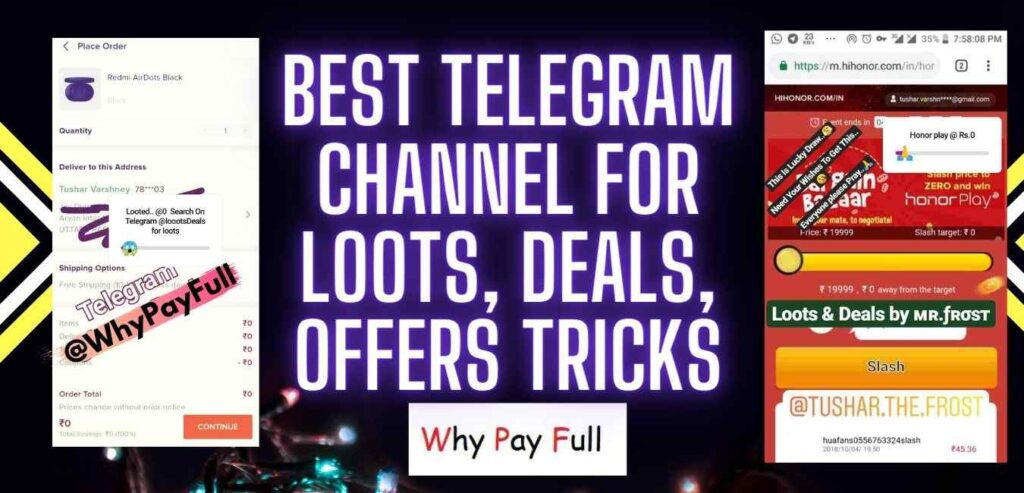 Best Telegram Channel for Loots, Deals and Offers