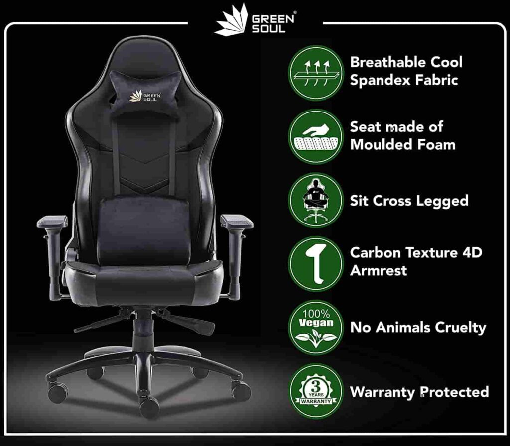Green Soul® Monster Ultimate S Multi Functional Ergonomic Gaming Chair Best Gaming Chair in 2020 min