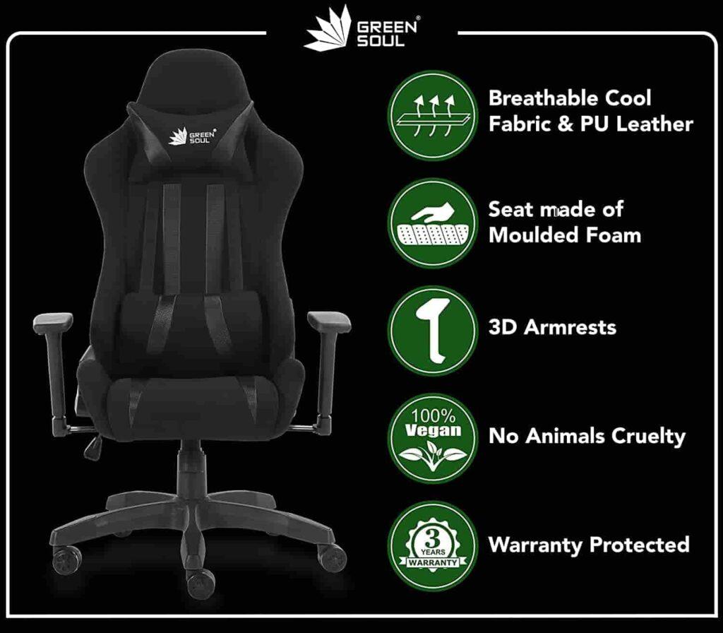 Green Soul Beast Series Multi Functional Ergonomic Gaming Chair GS 600 Best Office Chair min