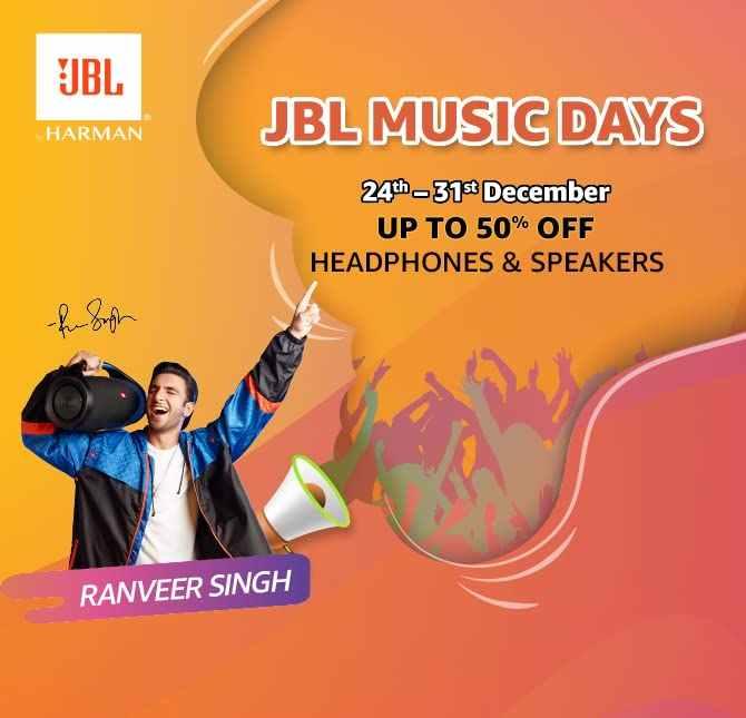 JBL Music Days Headphones and Speakers