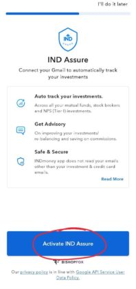 Avtivate IND Sure on INDMoney App